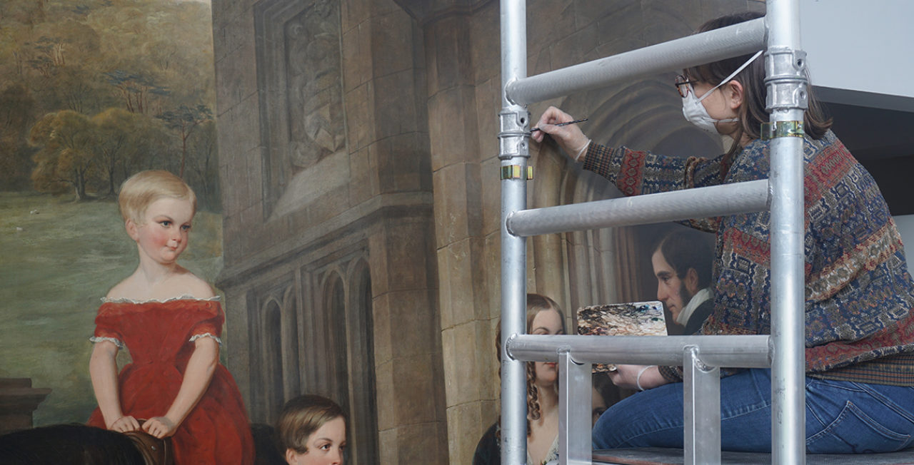 Restoration of the Bond Family Painting