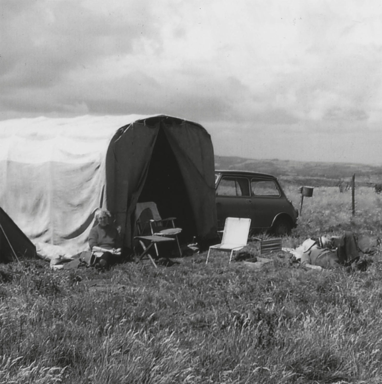 Taking a lunch break from excavating at Eggardon Hill